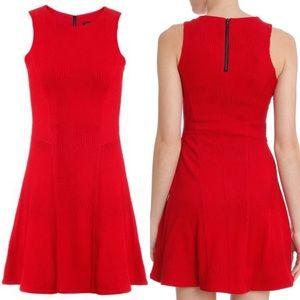 Rag & Bone Red Geneva Textured Sleeveless Dress
